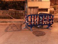 Arpino: Grossa voragine all'interno dei Parco dei Principi messa in sicurezza dai Vigili Urbani.