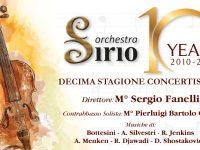 Compleanno importante per l'Orchestra d'Archi Sirio, diretta dal M° Sergio Fanelli.