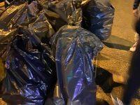 Arpino: Via Stadera. I commercianti di notte ripuliscono le strade.