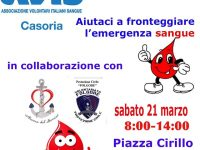 Casoria: Emergenza sangue. Tanti donatori al camper dell'Avis