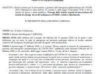 De Luca firma l'ordinanza che proroga le misure contenitive fino al 14 Aprile