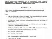 Casoria: ulteriori misure di contenimento del virus CODIV 19