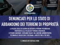 Casoria: sei persone denunciate per lo stato di abbandono dei terreni di proprietà