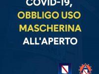 Covid-19: obbligatoria la mascherina anche all' aperto in tutta la Campania