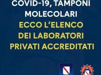 Regione Campania, tamponi anche nei laboratori privati. Due i centri autorizzati a Casoria