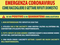 Coronavirus, le regole da seguire per lo smaltimento rifiuti in caso di positività