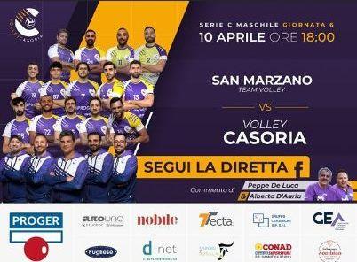 Volley, stasera con il S. Marzano per continuare la lotta promozione